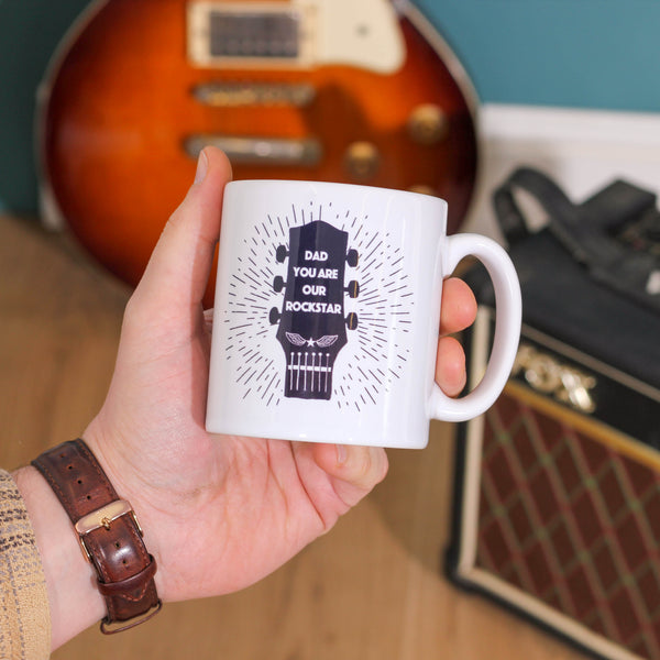 Personalised Rockstar Guitar Mug Gift For The Home