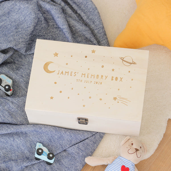 Personalised Space Keepsake Memory Box For Children
