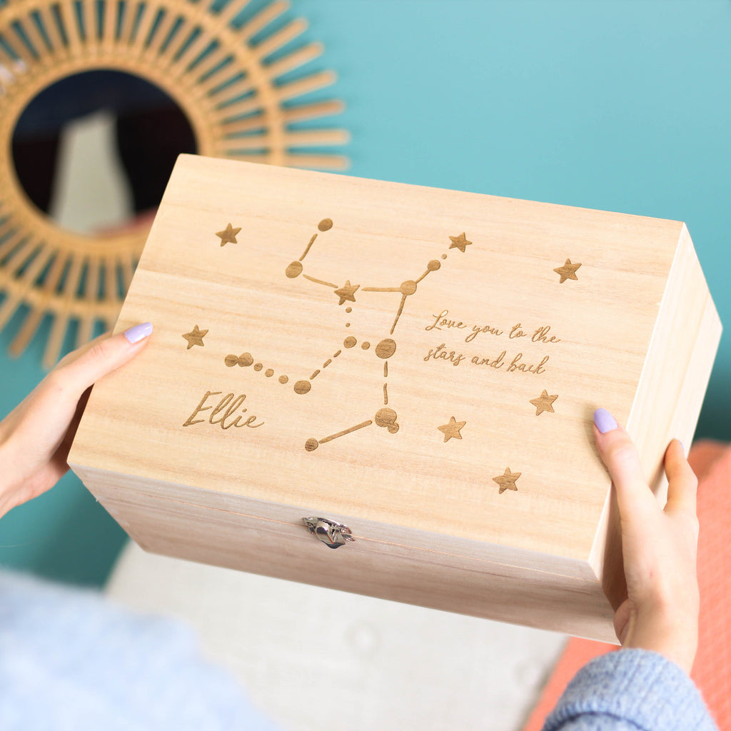 Personalised Star Sign Keepsake Memory Box For Her