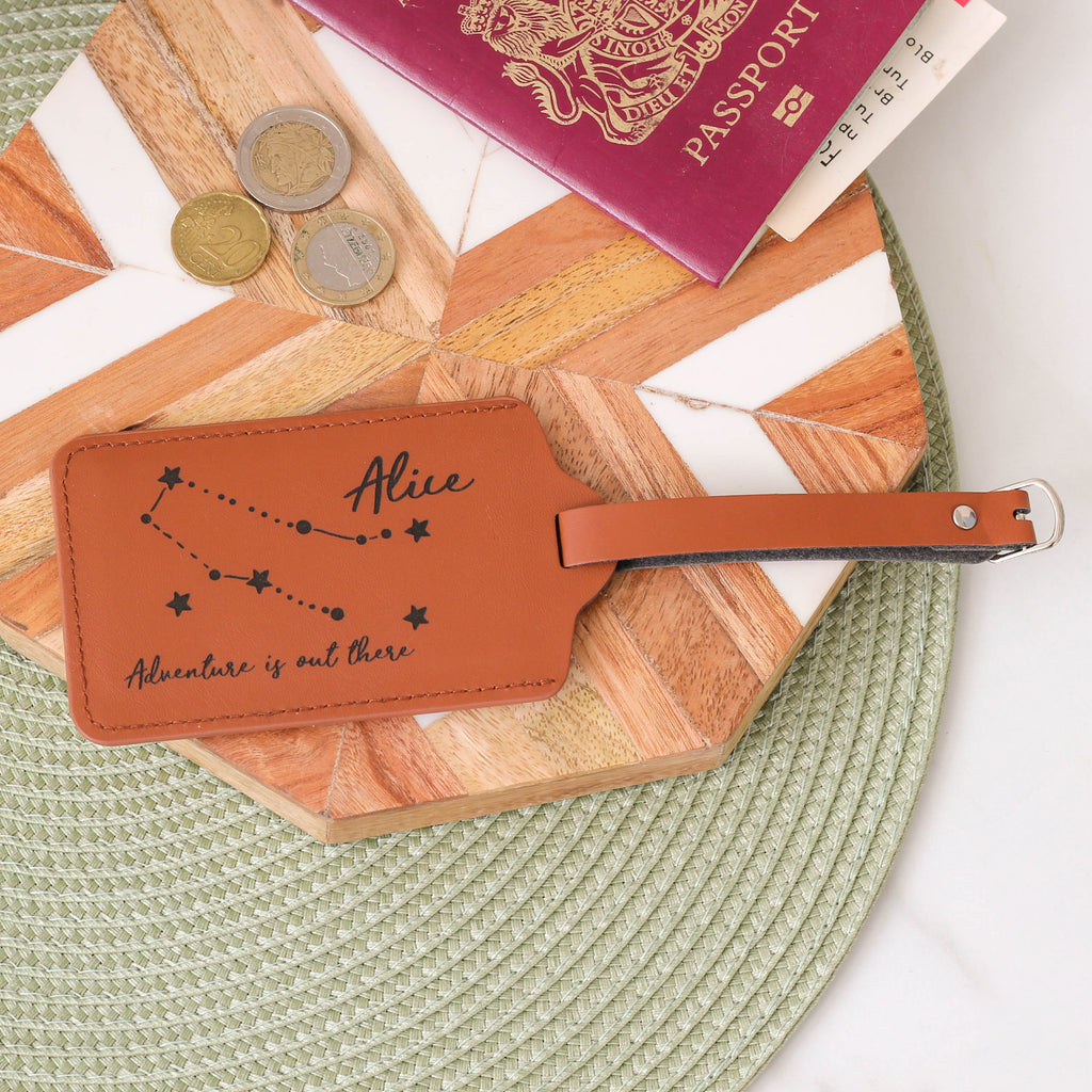 Personalised Star Sign Travel Luggage Tag