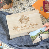 Personalised Travel Adventure Memories Keepsake Box