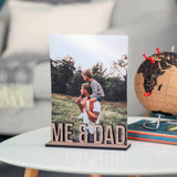 Personalised Wooden Free Standing Photo Frame