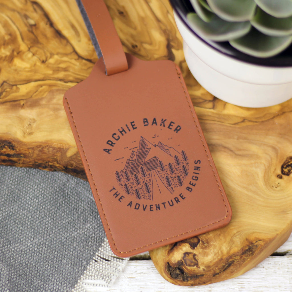 Personalised Adventure Luggage Tag