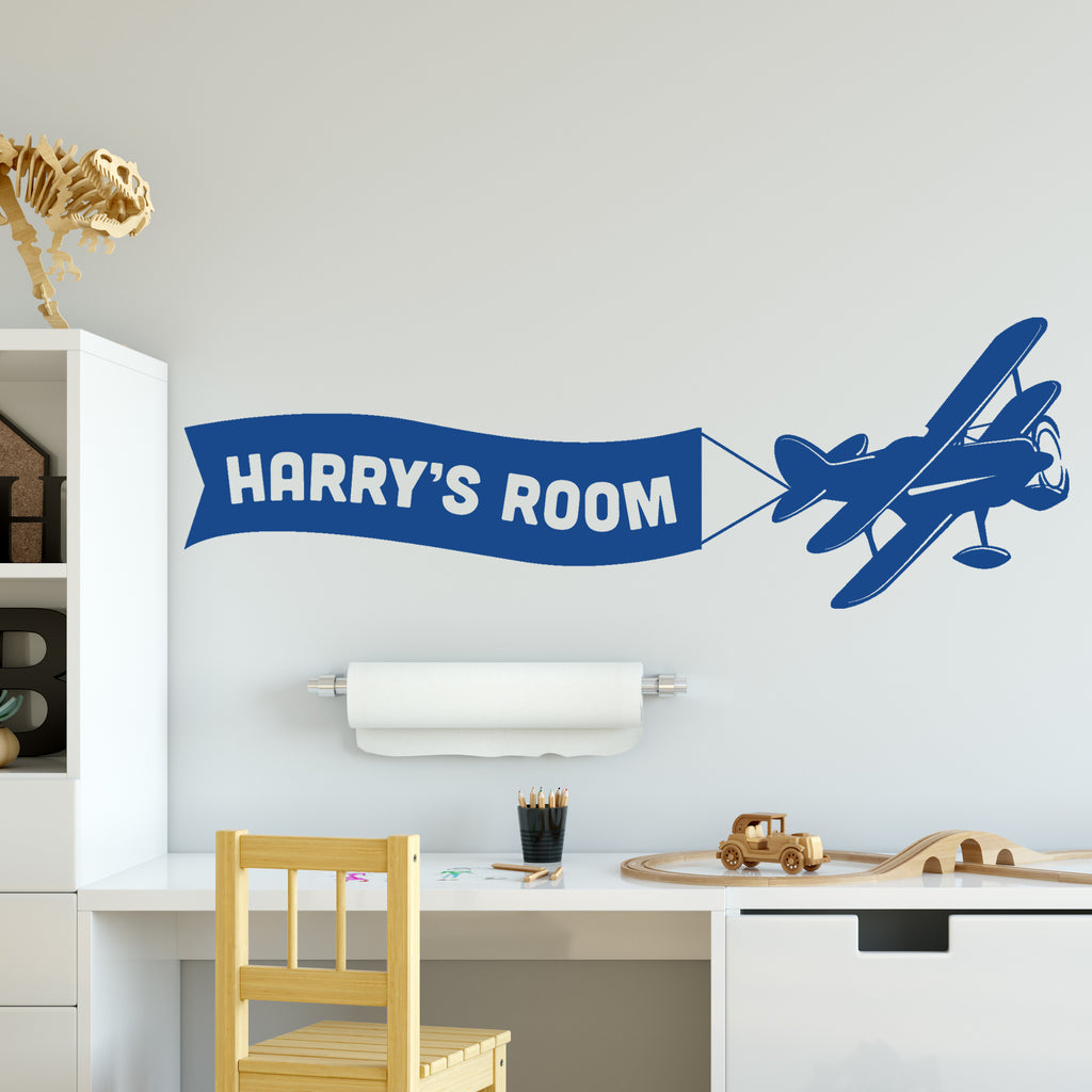 Personalised Airplane Wall Sticker