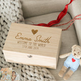 Personalised Baby Christening Keepsake Memory Box