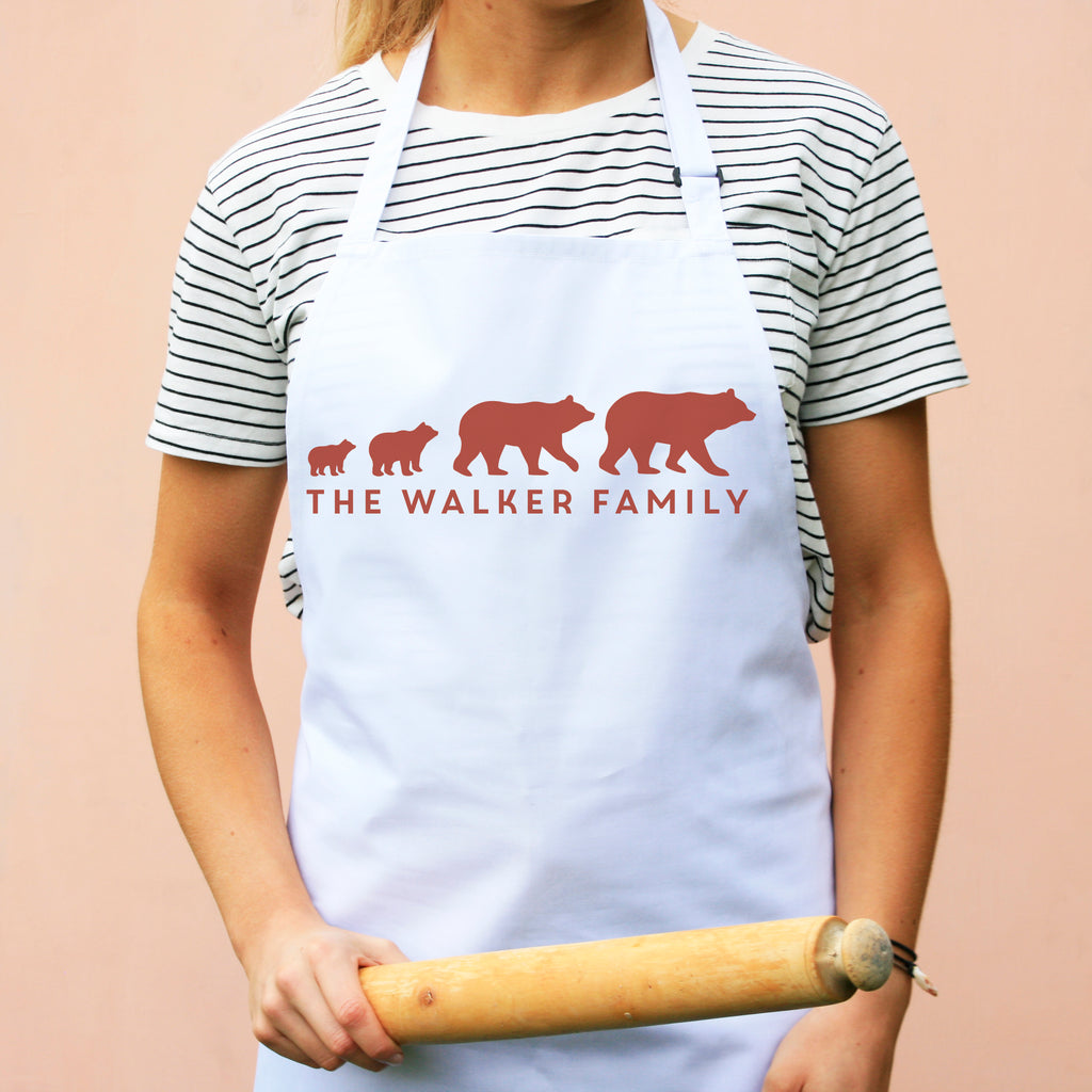 Personalised Bear Family Apron
