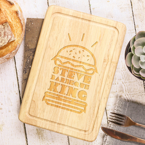 Personalised Burger Chopping Board