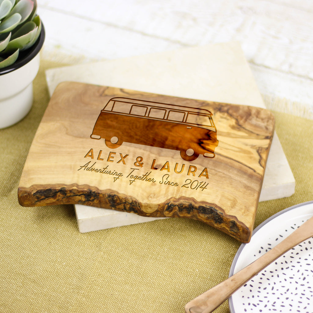 Personalised Campervan Cheese Board