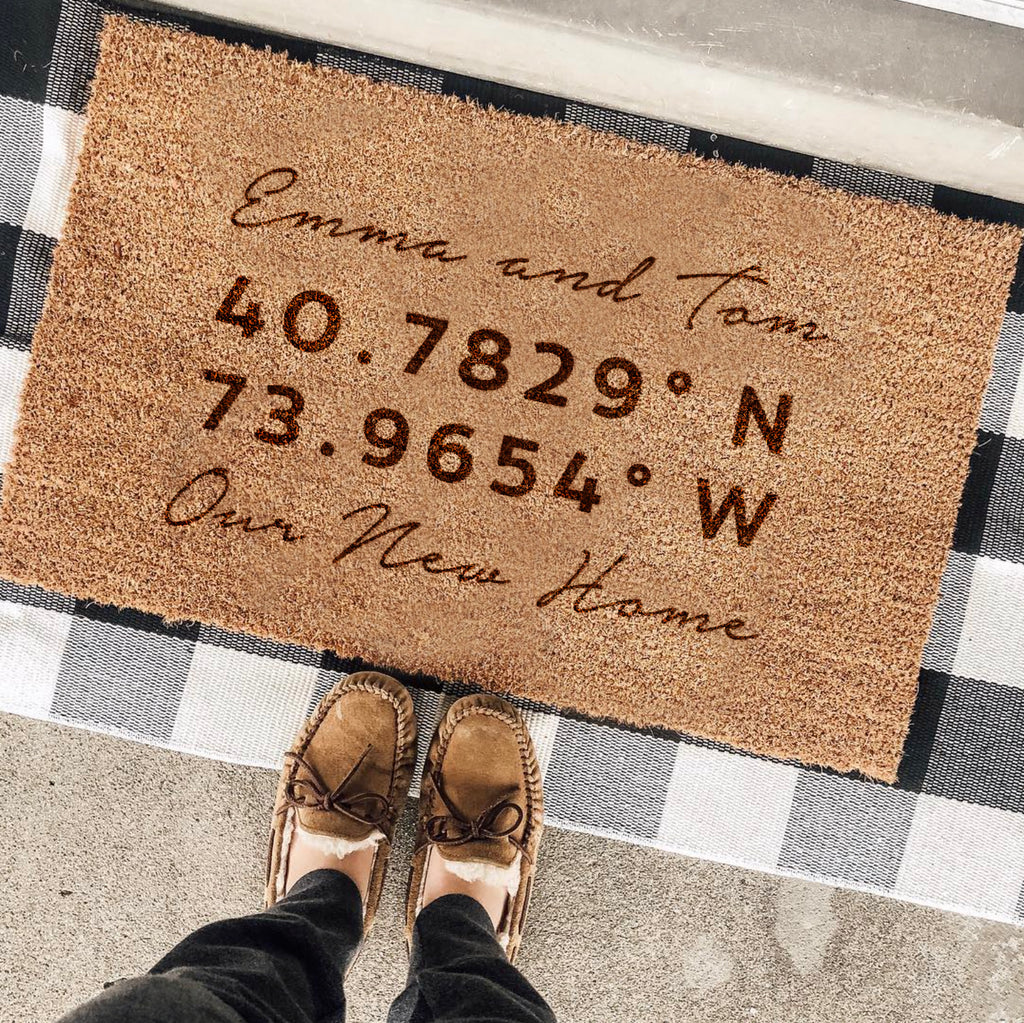 Personalised Co Ordinates Door Mat