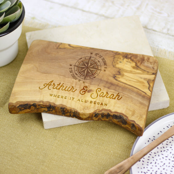 Personalised Compass Cheese Board