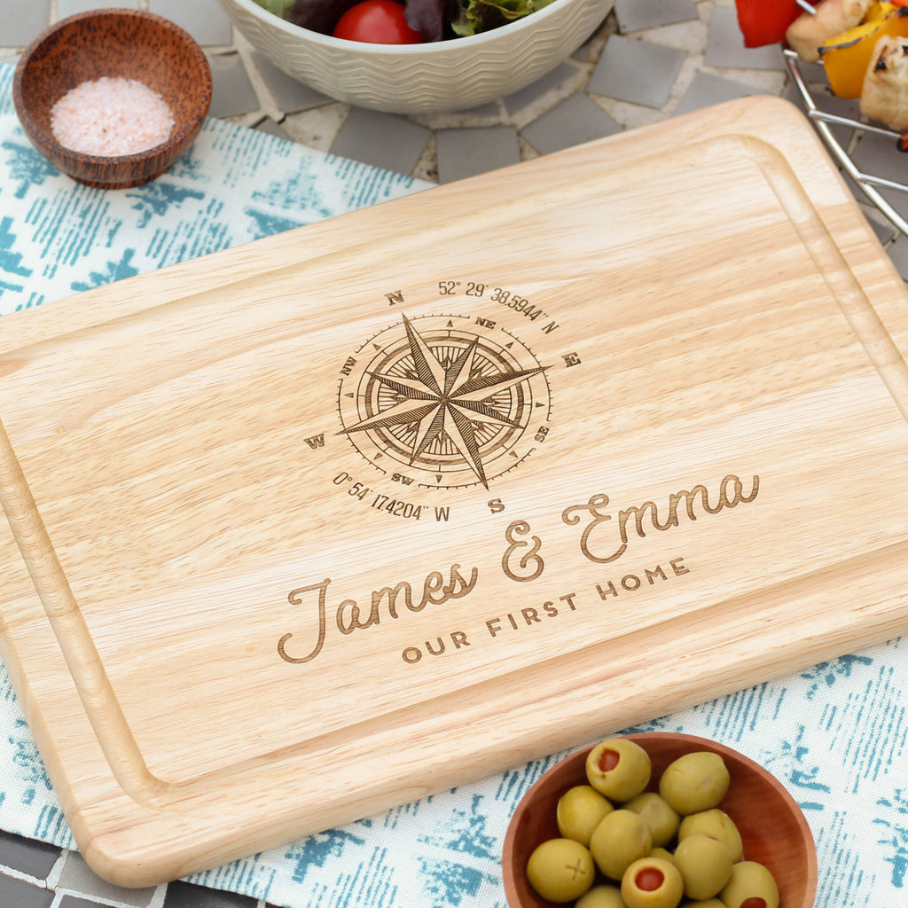 Personalised Compass Chopping Board