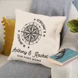 Personalised Compass Cushion