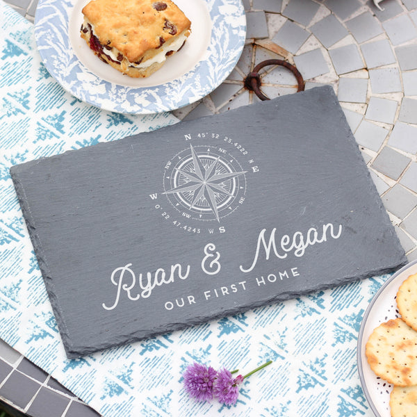 Personalised Compass Slate Board