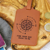 Personalised Coordinates Luggage Tag