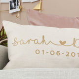 Personalised Couples Name Cushion