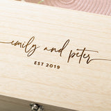 Personalised Couples Names Wedding Gift Keepsake Box