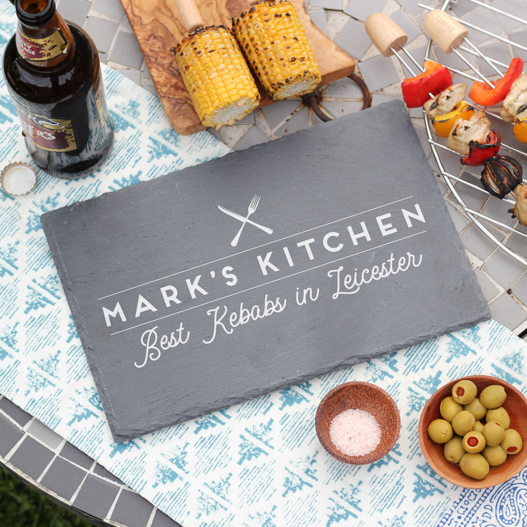 Personalised Dad's Kitchen Slate Board
