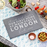 Personalised First Home Slate Board