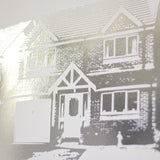 Personalised First House Metallic Print