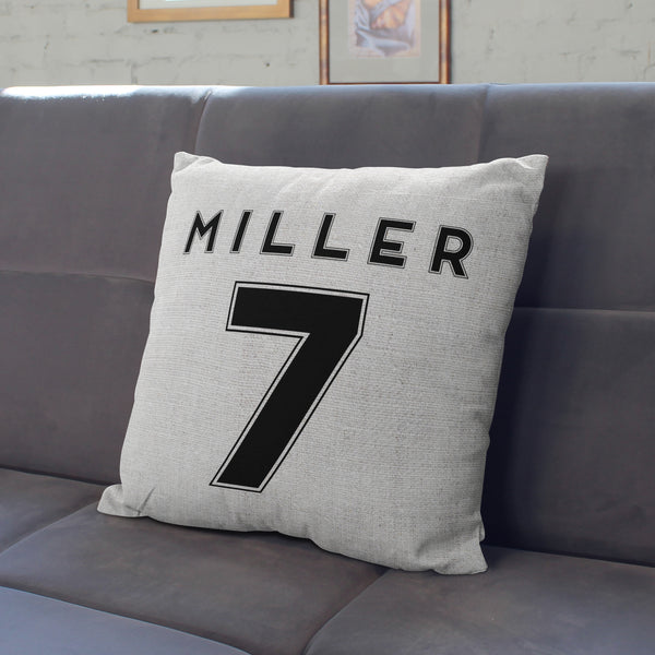 Personalised Football Shirt Number Cushion