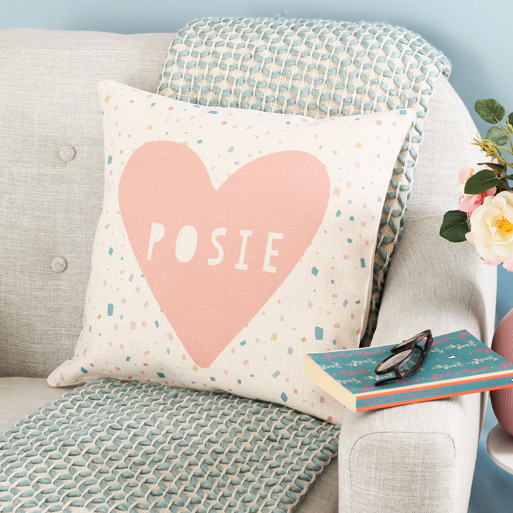 Personalised Heart Name Cushion