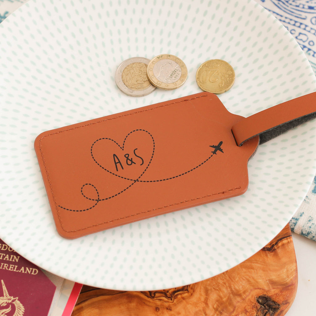 Personalised Honeymoon Luggage Tag