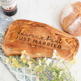 Personalised Just Married Wedding Chopping Board