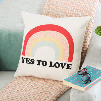 Personalised Rainbow Cushion