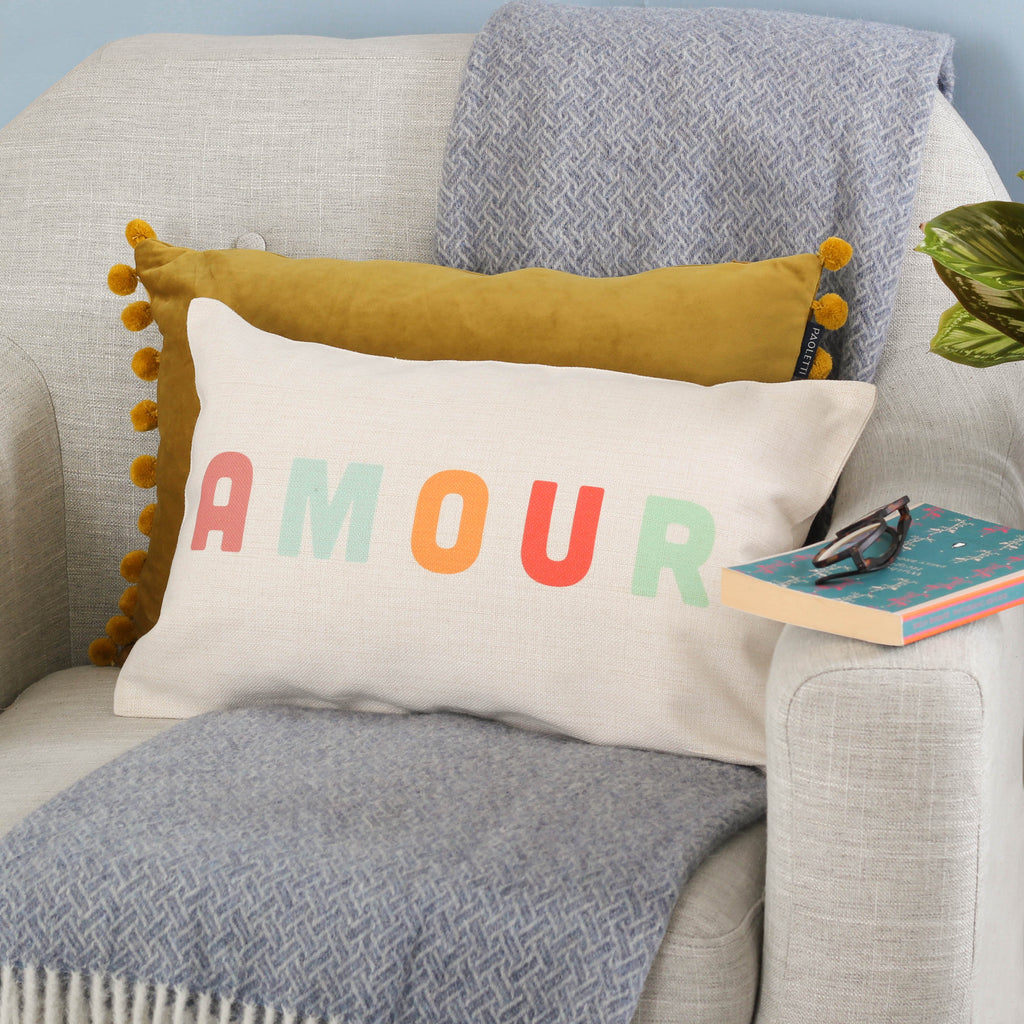 Personalised Rainbow Name Or Message Cushion