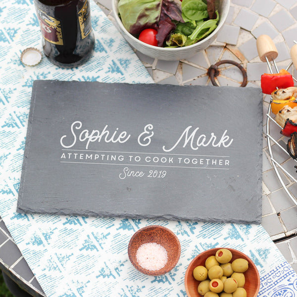 Personalised Slate Attempting To Cook Board