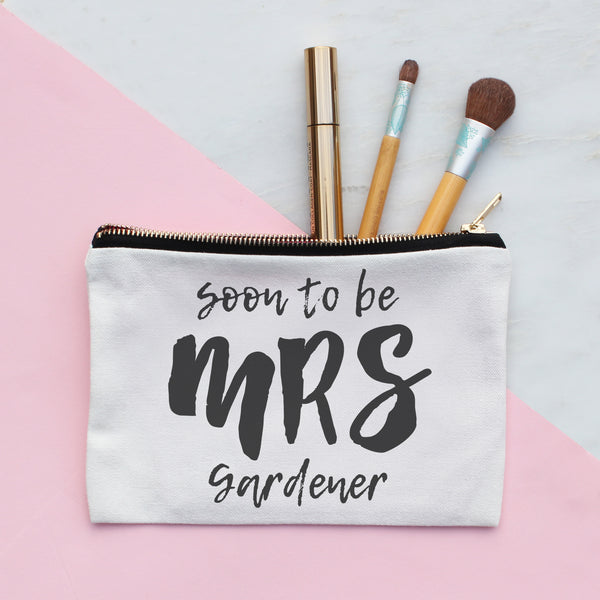 Personalised Soon To Be Mrs Make Up Bag