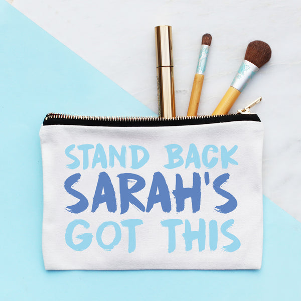 Personalised Stand Back Make Up Bag