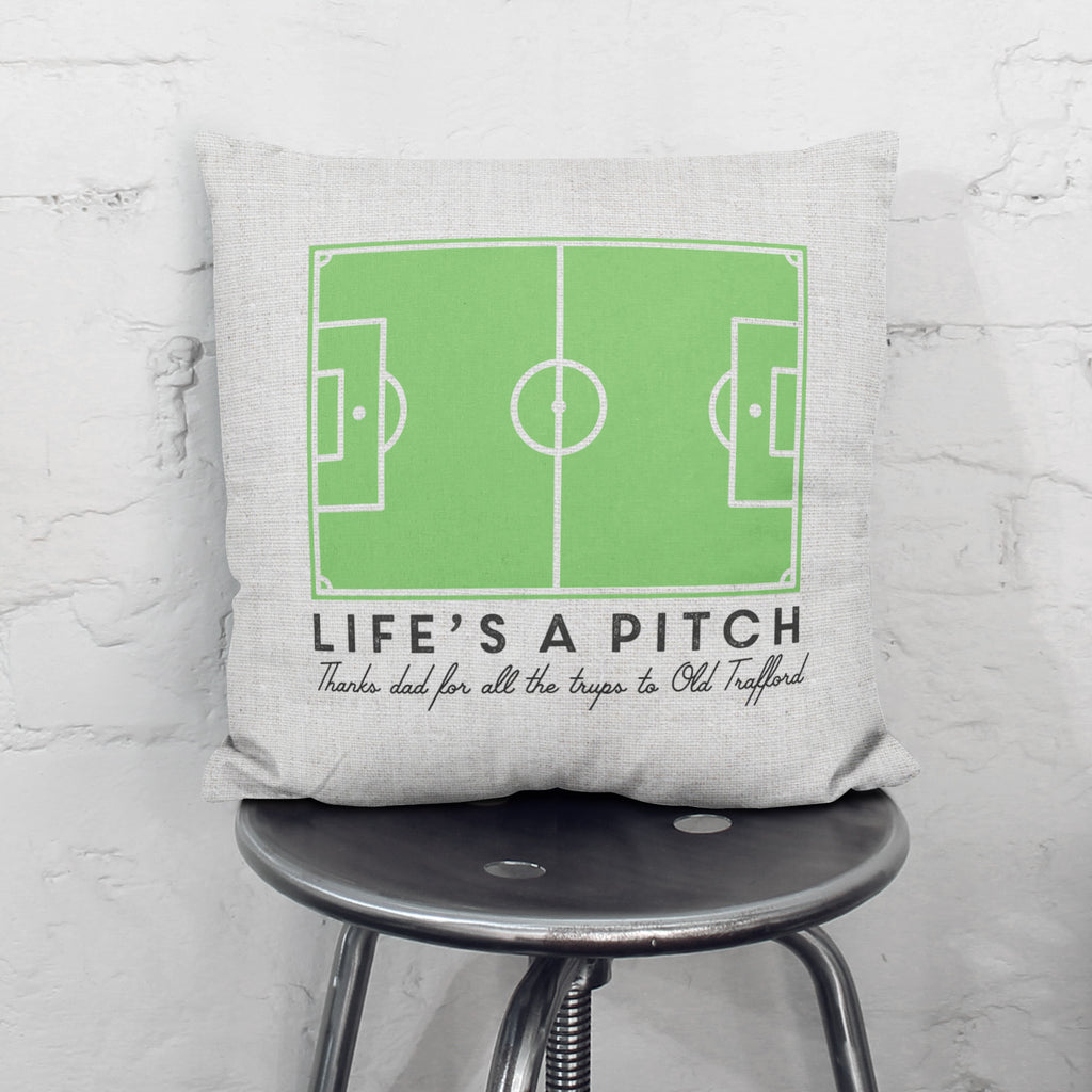 Personalised Life's A Pitch Cushion