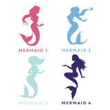 Personalised Mermaid Wall Sticker
