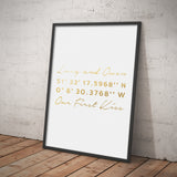Personalised Metallic Co Ordinates Print