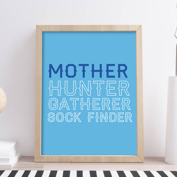 Personalised Hunter Gatherer Mother Print