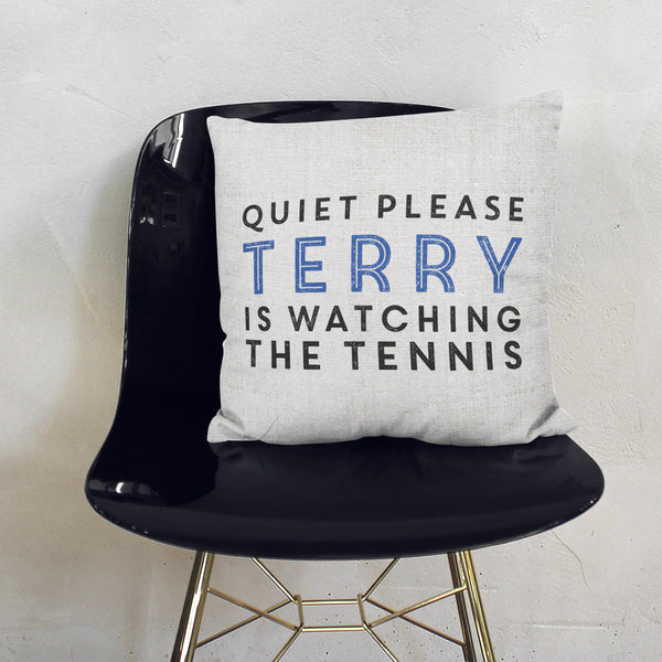 Personalised Quiet Please Cushion