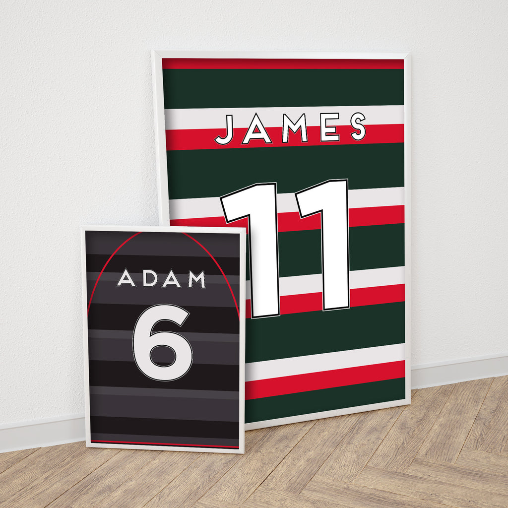 Personalised Rugby Shirt Print
