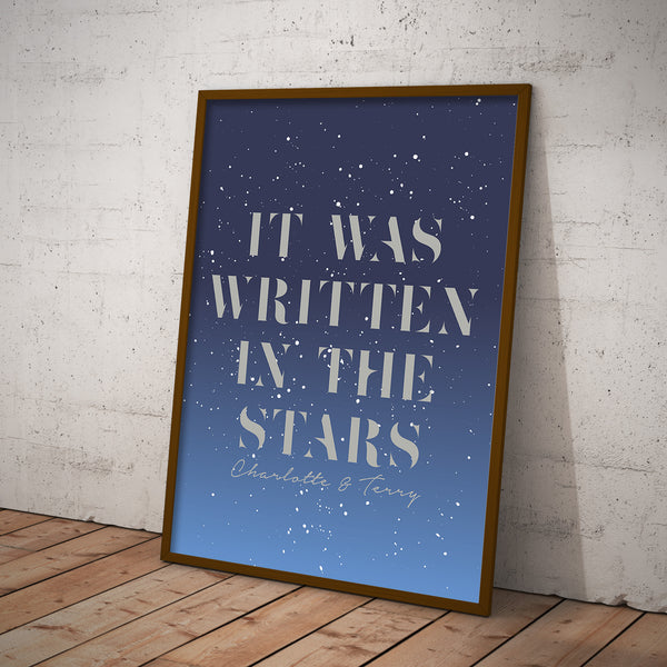 Personalised Written In The Stars Print