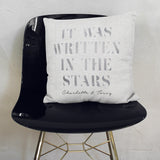 Personalised Written In The Stars Silver Cushion