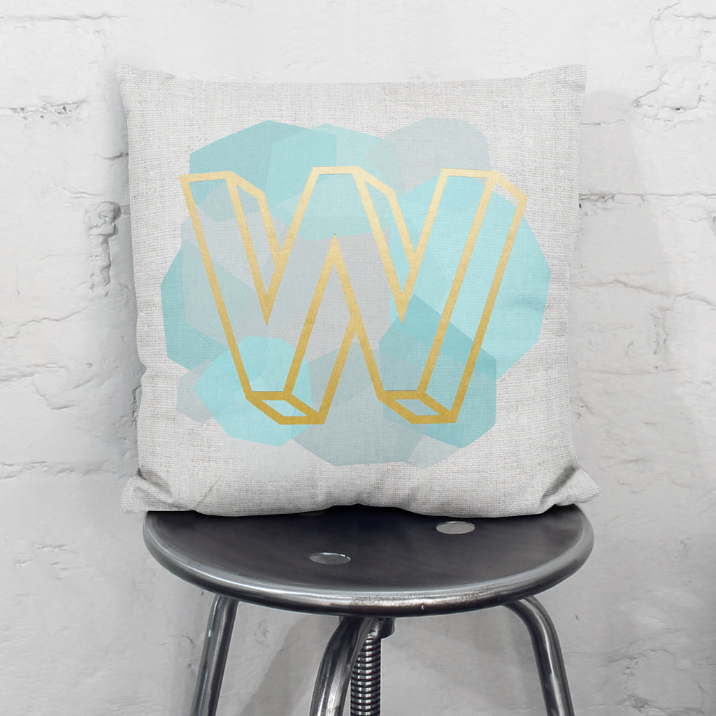 Personalised Metallic Geometric Cushion