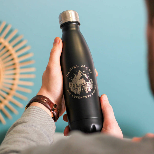 Personalised Reusable Adventure Bottle For Dad