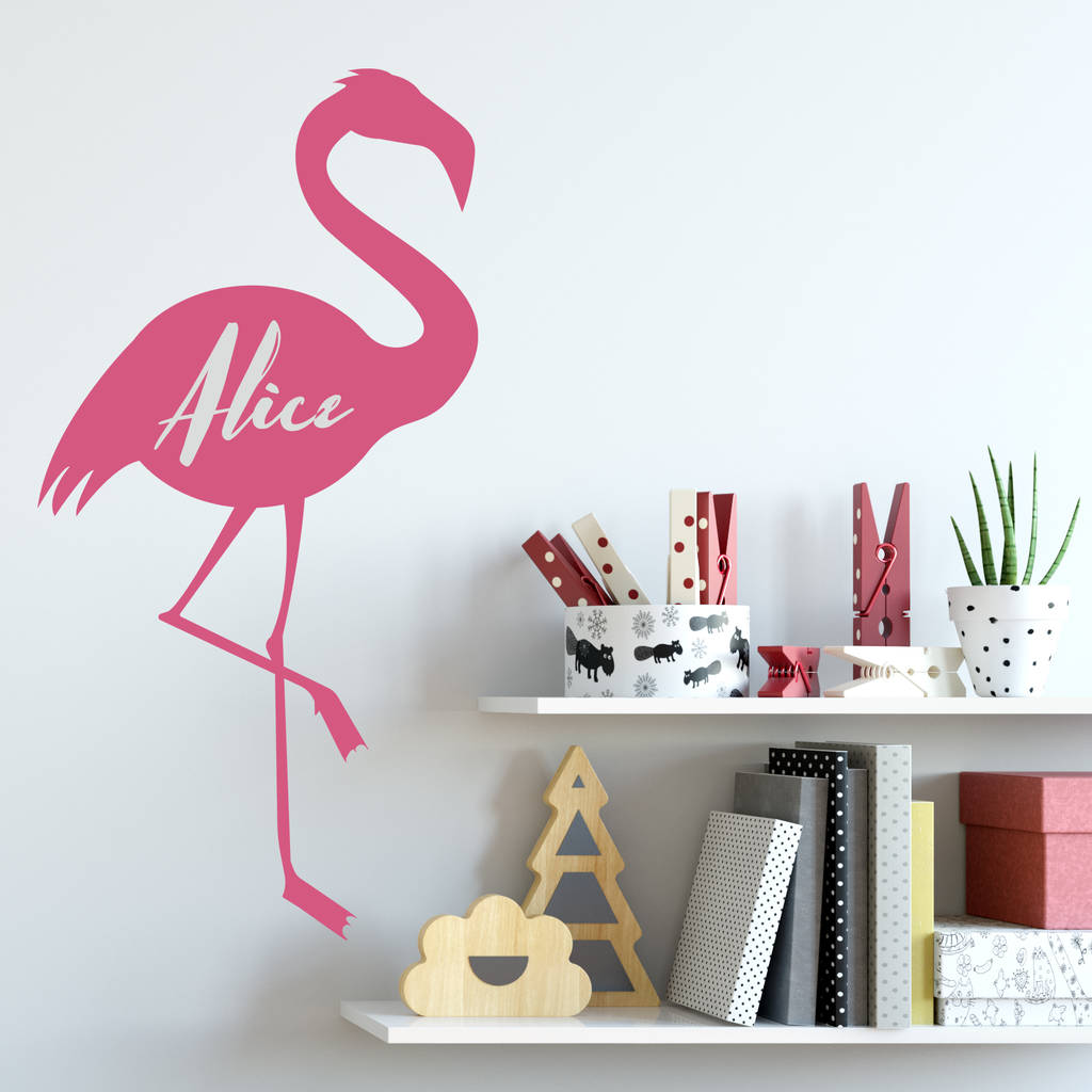 Personalised Flamingo Wall Sticker