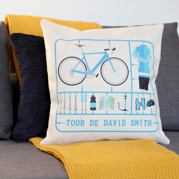 Personalised Airfix Bike Cushion