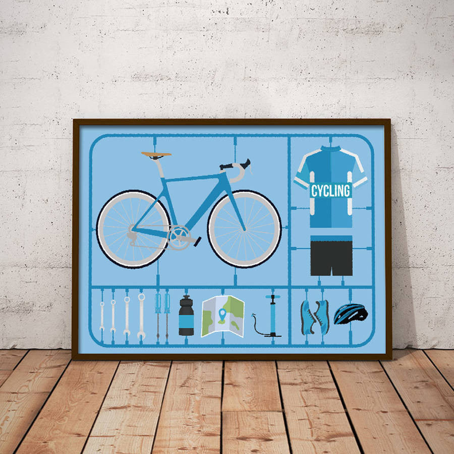 Personalised Airfix Bike Print