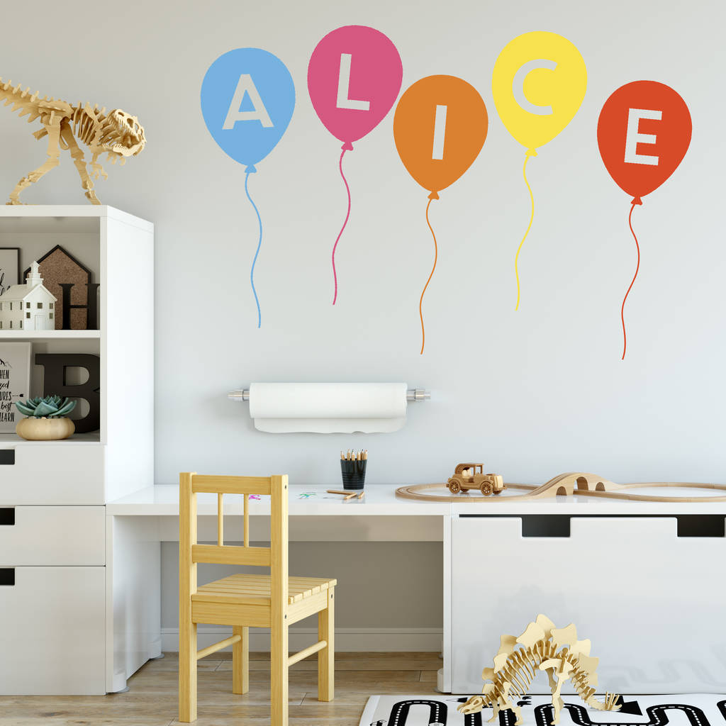 Personalised Balloon Wall Stickers Thats Nice That