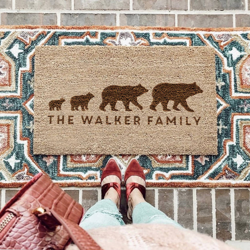 Personalised Bear Door Mat