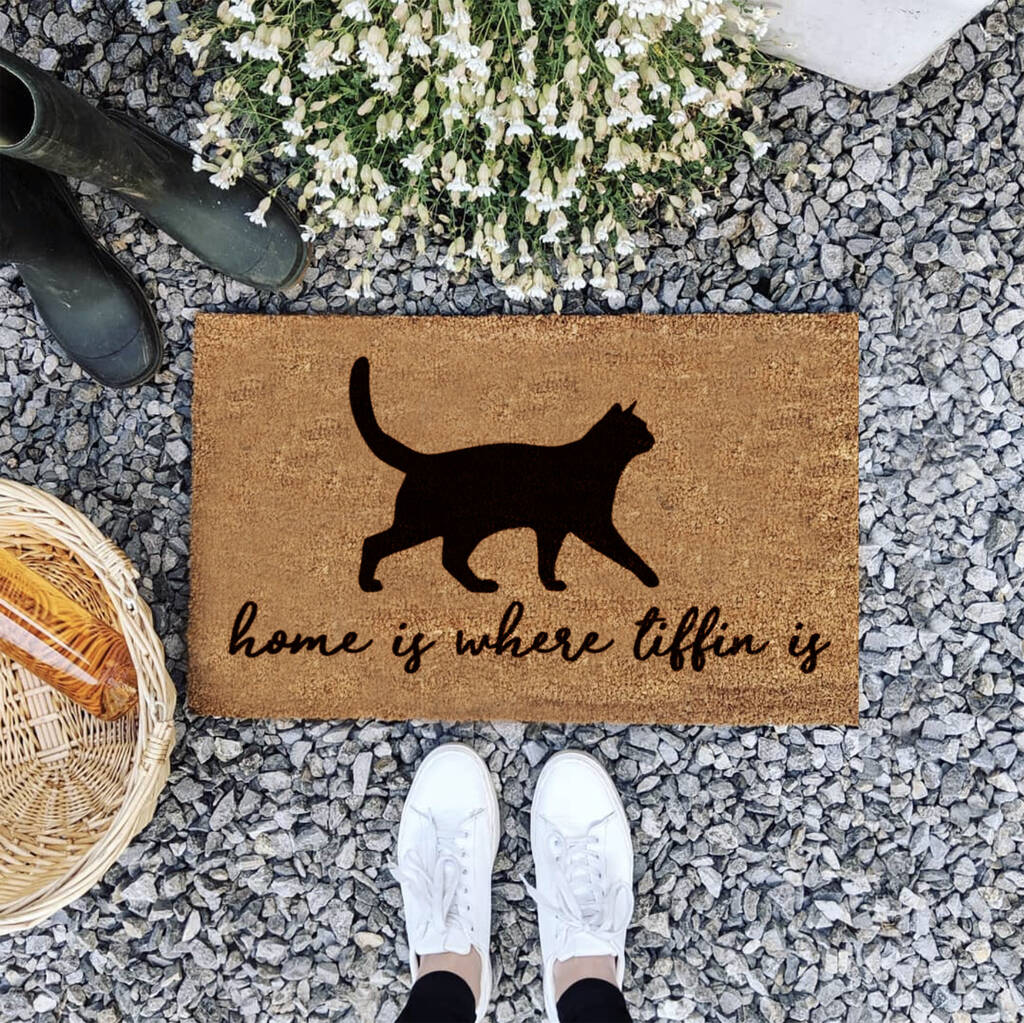 Personalised Pet Cat Doormat Gift For Home