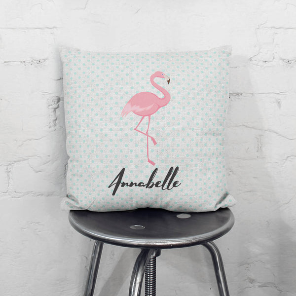 Personalised Flamingo Cushion