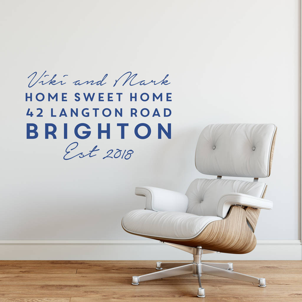 Personalised Home Wall Sticker